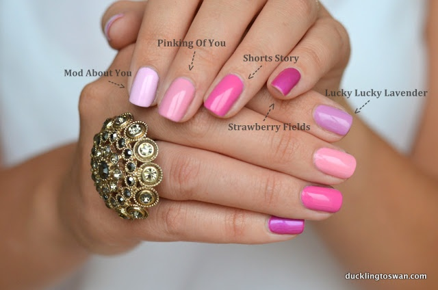 OPI Pink Nail Polish. Right now I'm wearing OPI nail lacquer in short story