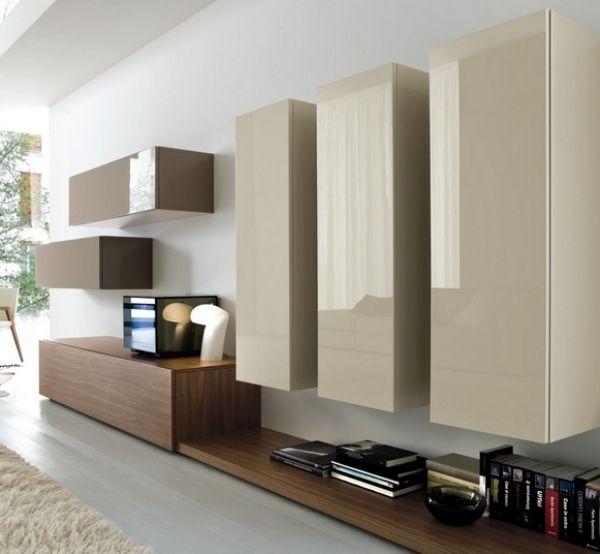 Holz-Wandschränke-Board Wohnwand-lack Glanz Fronten