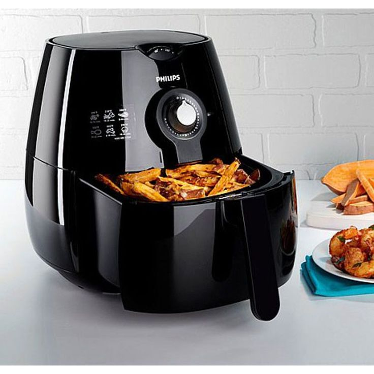 Philips HD9220/26X Black Plastic/Stainless Steel Refurbished Air Fryer with Rapid Air Technology (Black)