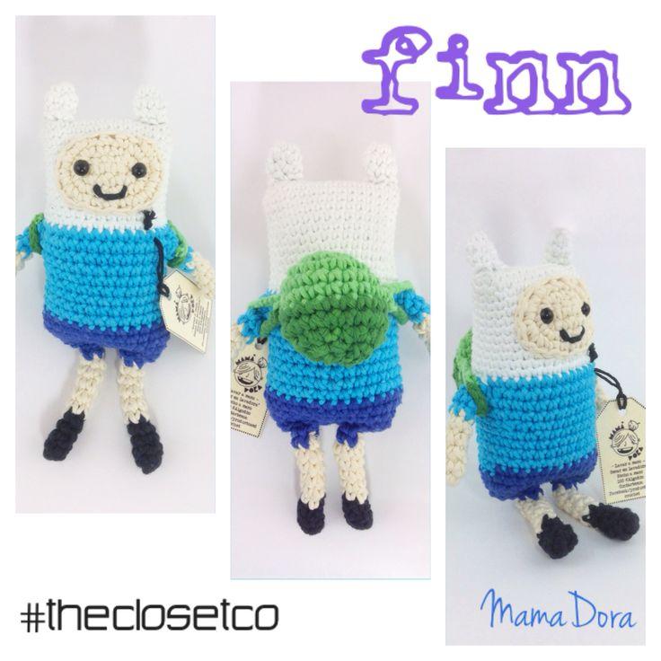 Que comience la aventura con #Finn #AdventureTime #muñecos #coleccionables en #crochet de la marca @MamaDora, sólo en www.thecloset.co  #Moda #Diseño #Independiente