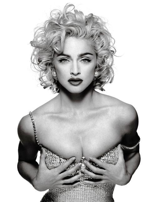 """Patrick Demarchelier. """"Madonna"""". 1990. (Madonna, Glamour)"""