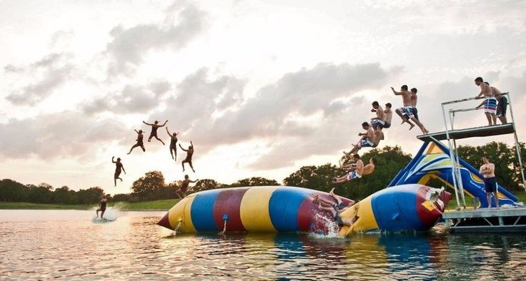 Durable Inflatable Water Parks , Inflatable Water Catapult Blob