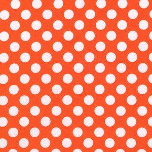 Michael Miller Ta Dot in Tangerine  1 yard Listing by hbfabrics, $8.75