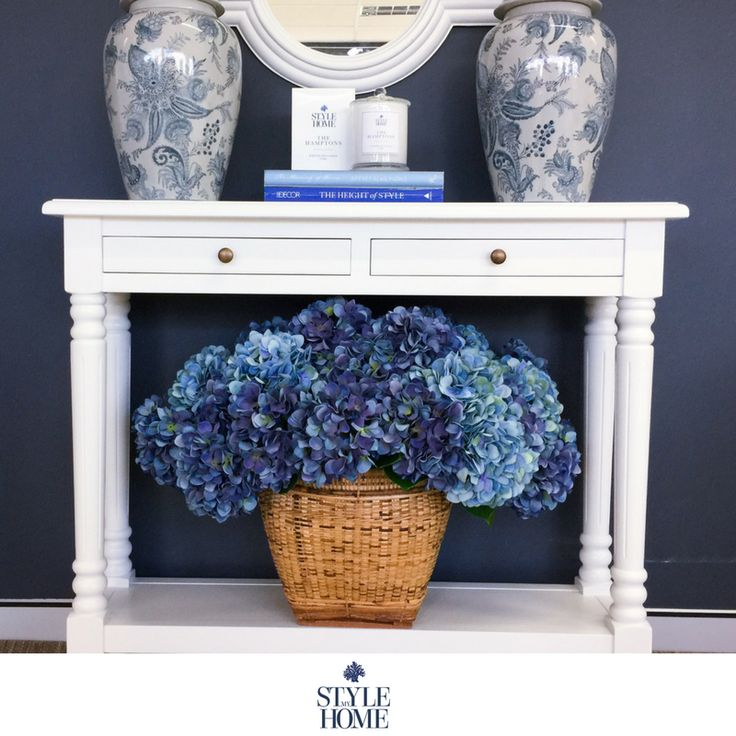 Our new narrow 'CALLUM' Console with 2 drawers and shelf is great for entryways or storage for small spaces.