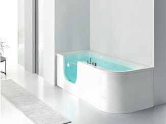 Corner whirlpool bathtub with shower FOR ALL