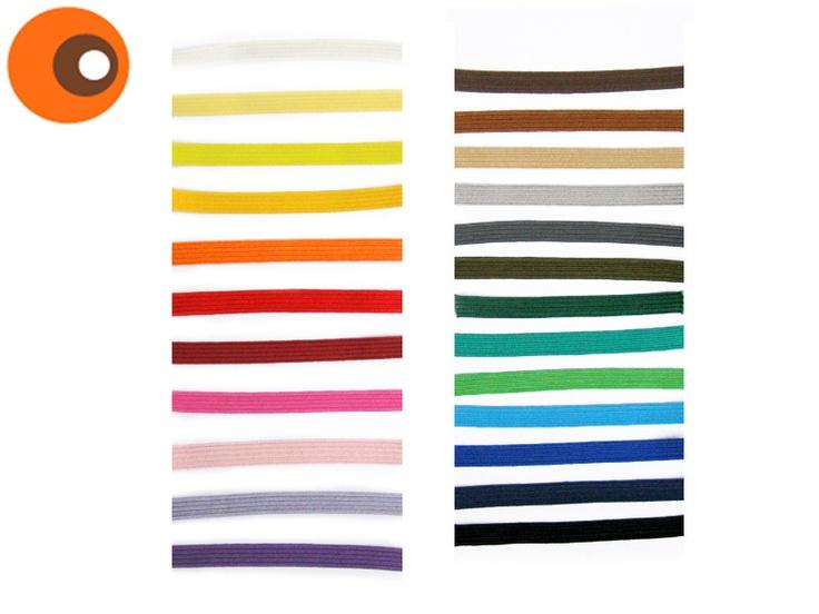 ♥    5 m farbenfrohe *Gummilitze* in 7 mm Breite    diese Gummilitze ist wirklich von *bester Qualität* und nicht zu vergleichen mit labbriger Wäschel