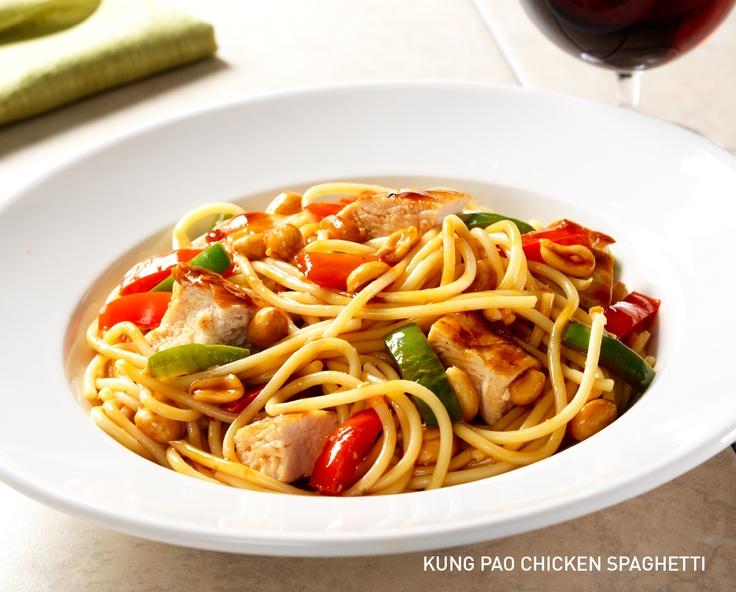 Kung Pau Chicken SPaghetti