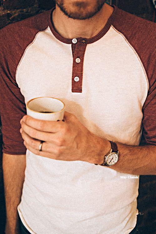 June 4, 2015.Shirt: Eco-Jersey Raglan Henley - eBay - $14Jeans: Levi's 511 in Rigid Dragon - Amazon - $39Watch: Timex Easy Reader - Target - $30 Watch Strap: Hadley-Roma in Honey Oil Tan - Amazon - $18