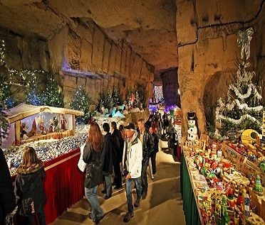 Christmas Market Valkenburg Caves. Went here our first Christmas stationed at Volkel.