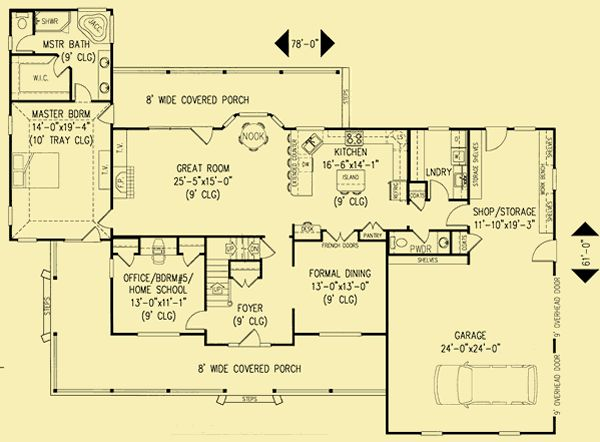 Architectural House Plans Floor Plan Details Southern