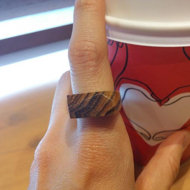 Chansthinks Wood Crafts! 찬이생각: Chansthinks handmade geometric angle wooden ring/B...