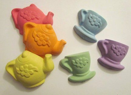 Sidewalk chalk for tea-party favors