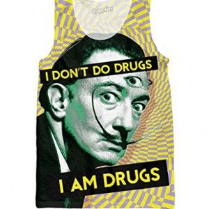 RAGEON MEN'S SALVADOR #DALI ON #DRUGS TANK TOP #IAMDRUGS