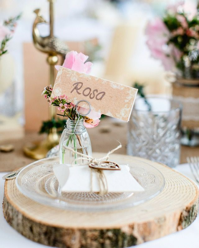 Rustikal Romantisch Natur Hochzeit Mit Materialien Wie Holz