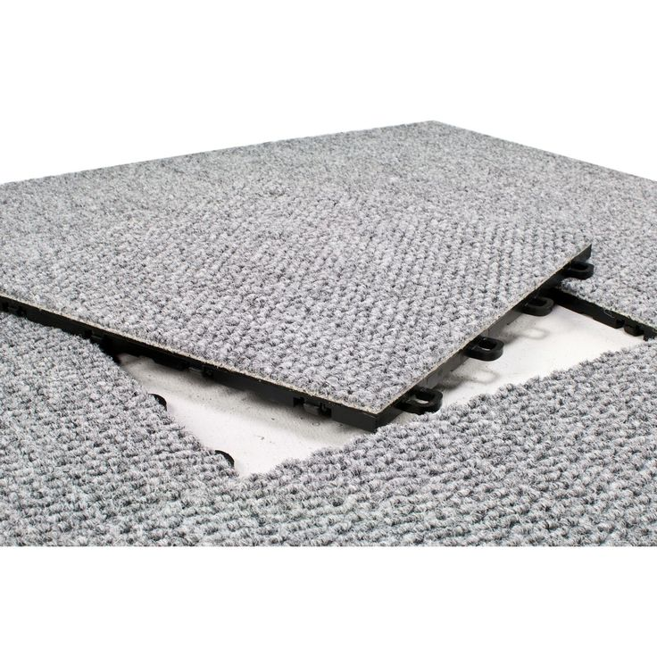 Exceptional BlockTile 12x12 Inch Interlocking Premium Gray Carpet Tiles (20 Tile Pack)