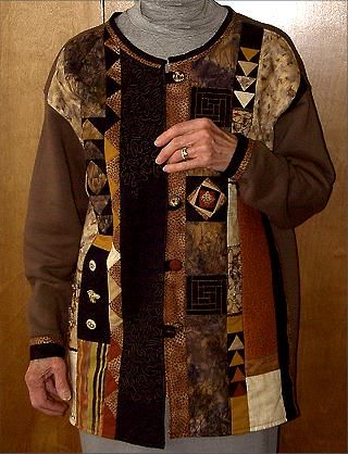Fantastic patterns - I really like this sweatshirt jacket