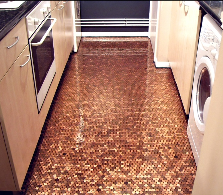 how awesome would it be if you could diy your very own flooring with leftover pennies from previous outings take a look at these easy diy steps to craft
