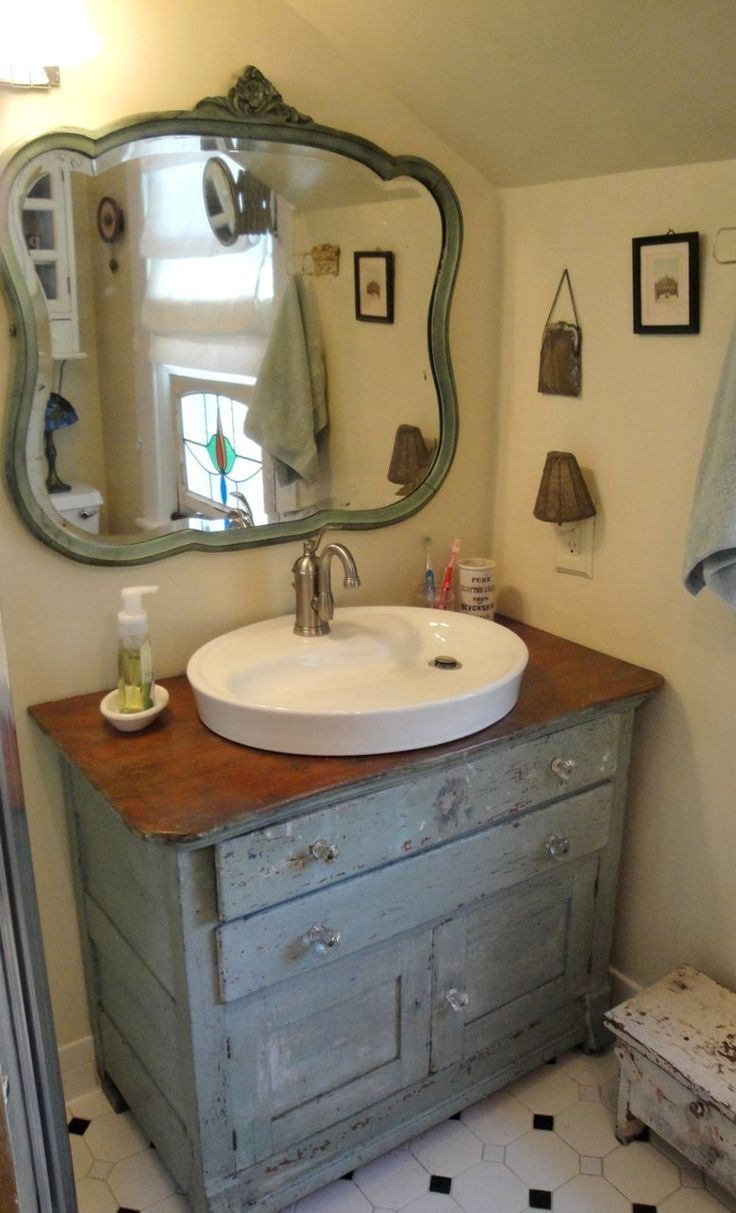 Web Photo Gallery The best Shabby chic bathrooms ideas on Pinterest Shabby chic farmhouse Farmhouse toilet accessories and Small bathroom cabinets