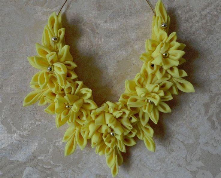 """Колье """"Желтые цветы"""""""
