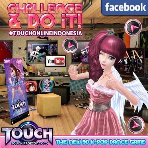 """Hey Hey ~ Bagi T-Dancer yang sukaaaaa sekali eksis .. yukk eksis bersama TOUCH Online Indonesia di event kita yang baru .. yaitu """"Challenge and Do it!!"""" eksis di dalam game sudah biasa ~ buktikan dirimu untuk eksis juga di YouTube!! Baca keterangan lanjutnya di : http://touch.prodigy.co.id/challenge-and-do-it/ #prodigy #infinitech #touch #online #indonesia #dance #music #casual #fashion #games #musical #Kpop #korean #teman #friends #sahabat #pasangan #pacar #couple #wanita #pria"""