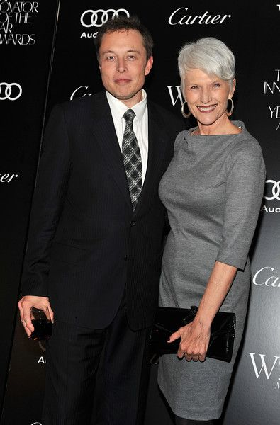 Description of . Elon Musk and his mother, Maye Musk attend the 2011 WSJ Magazine Innovator of the Year Awards at the Museum of Modern Art on October 27, 2011 in New York City. (Photo by Fernando Leon/Getty Images)