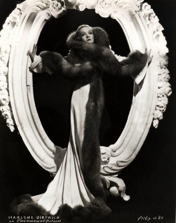 Marlene in fur and satin