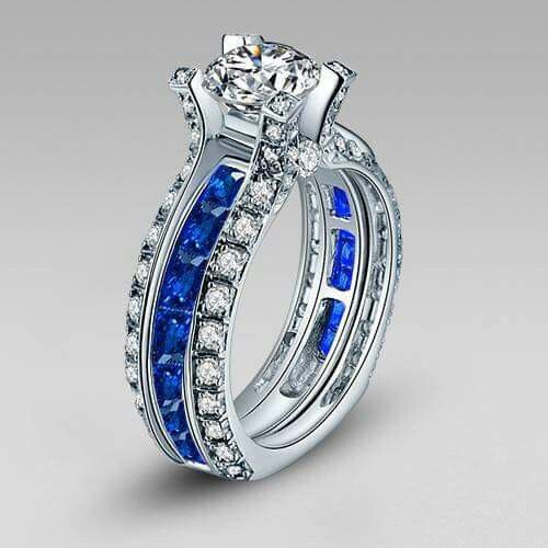 Thin Blue Line Wedding Ring