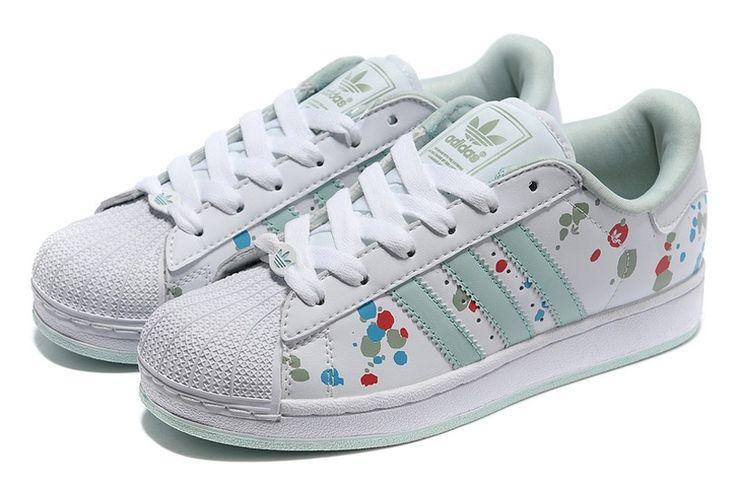 Adidas Originals Frucht Drucken Superstar II Damen Sport Schuhe Weiß V22852