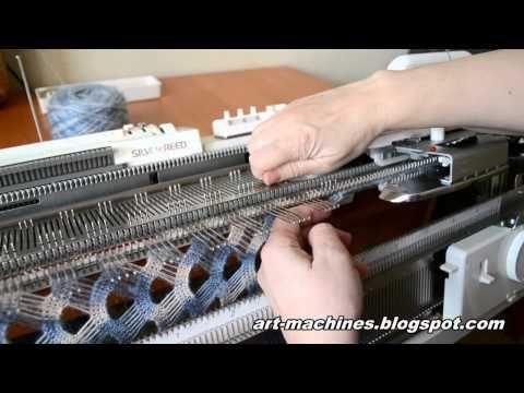 ▶ Сетка частичным вязанием. Окончание ряда. - YouTube