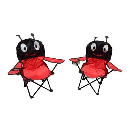 Maos Red Ant Folding Kids Camping Chairs (Set of 2)