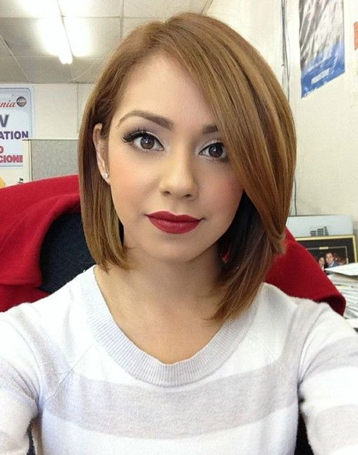 30 Short Hairstyles for Winter: Easy   Straight Haircut for Girls - I love that this is asymmetrical!