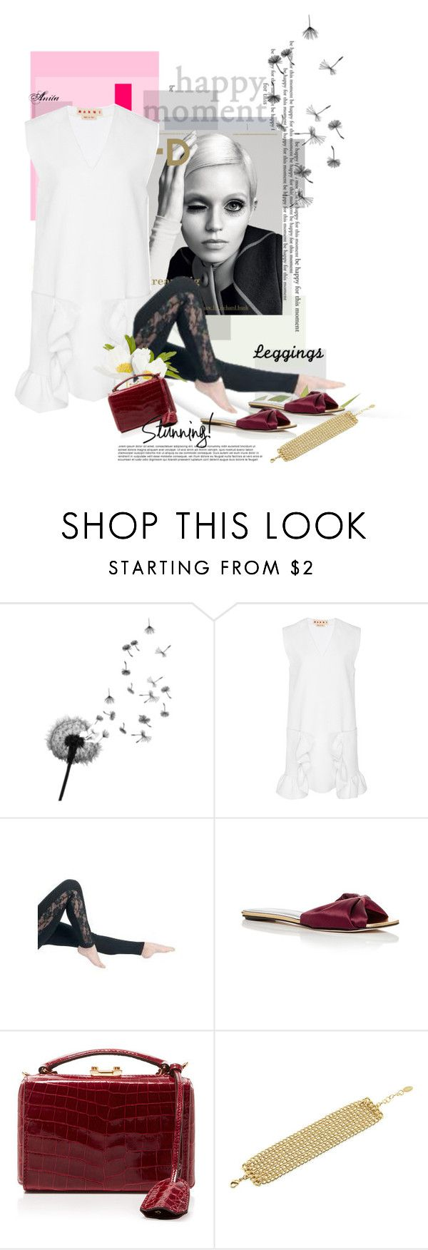 """Today Let's wear leggins"" by wodecai ❤ liked on Polyvore featuring Marni, Oscar de la Renta, Mark Cross and BERRICLE"