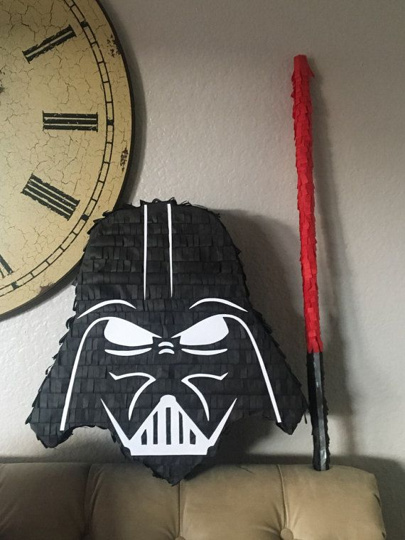 Darth Vader Piñata and lightsaber piñata stick Set, Star ...