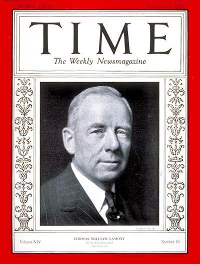 Thomas W. Lamont -- Nov. 11, 1929