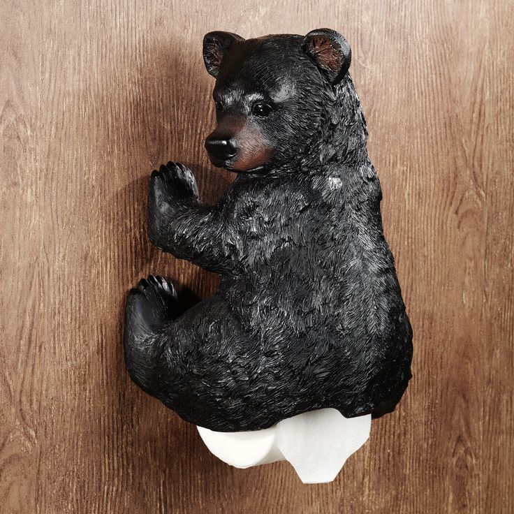 Bear Toilet Paper Decor Stinkin Bear Wall Mounted Toilet Paper Holder