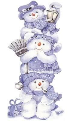 snowmen - Click image to find more Art Pinterest pins