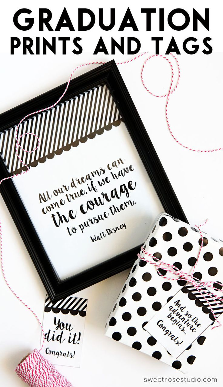 Give the gift of encouragement to your grad with these awesome FREE Graduation Prints and Tags!