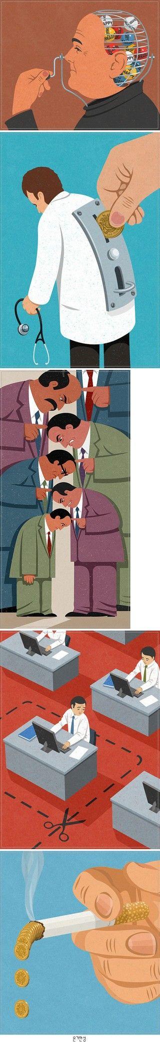 슬픈 현실을 보여주는 듯한 일러스트 by 은기한성 on interest.me