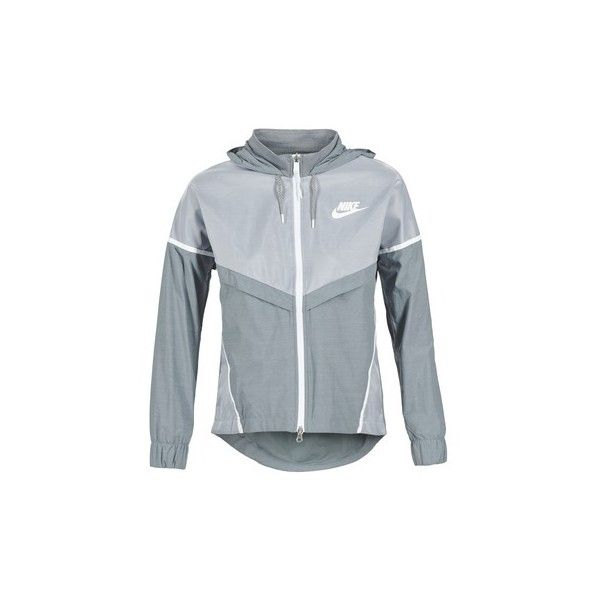 Nike TECH WINDRUNNER Windbreakers ($120) ❤ liked on Polyvore featuring activewear, activewear jackets, grey, nike activewear, nike and nike sportswear