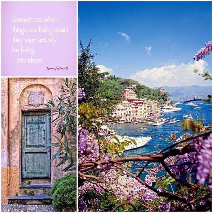 """""""When you think your life is falling apart, it's usually falling together in disguise."""" - Charlotte Eriksson www.travelista73.comfacebook.com/travelista73  Portofino Italy"""