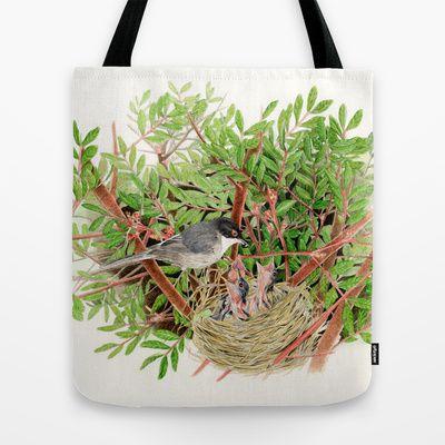 Sardinian Warbler - nesting bird on the Ligurian coast Tote Bag