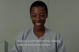 "Like when she so perfectly defined love and made us all melt into a giant puddle. | 12 Times Poussey Stole Our Hearts In ""Orange Is The New Black"" Season 2"