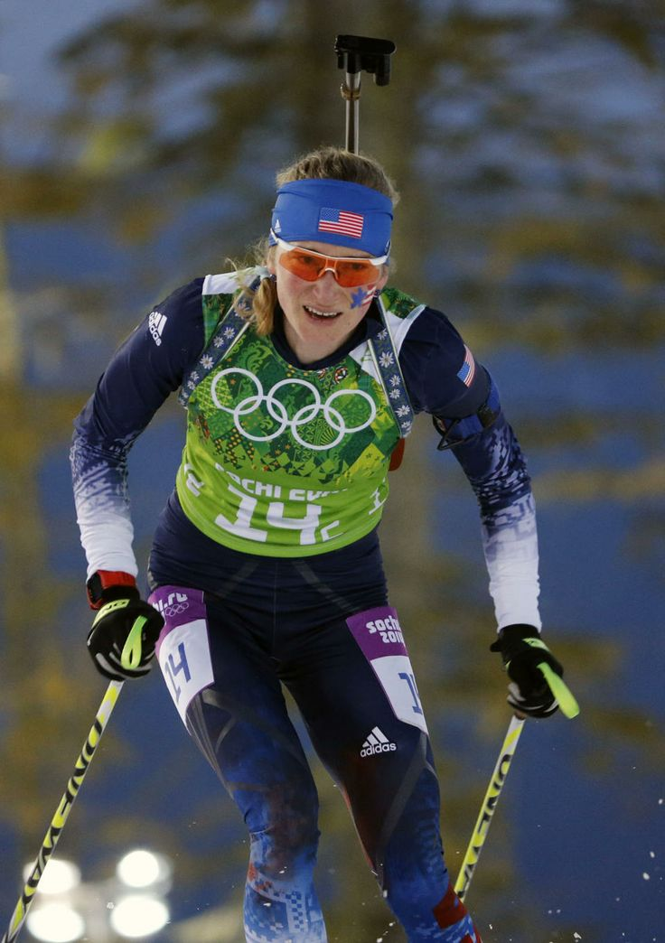 DAY 15: Hannah Dreissigacker of the USA competes during the Biathlon Women's  4x6km Relay http