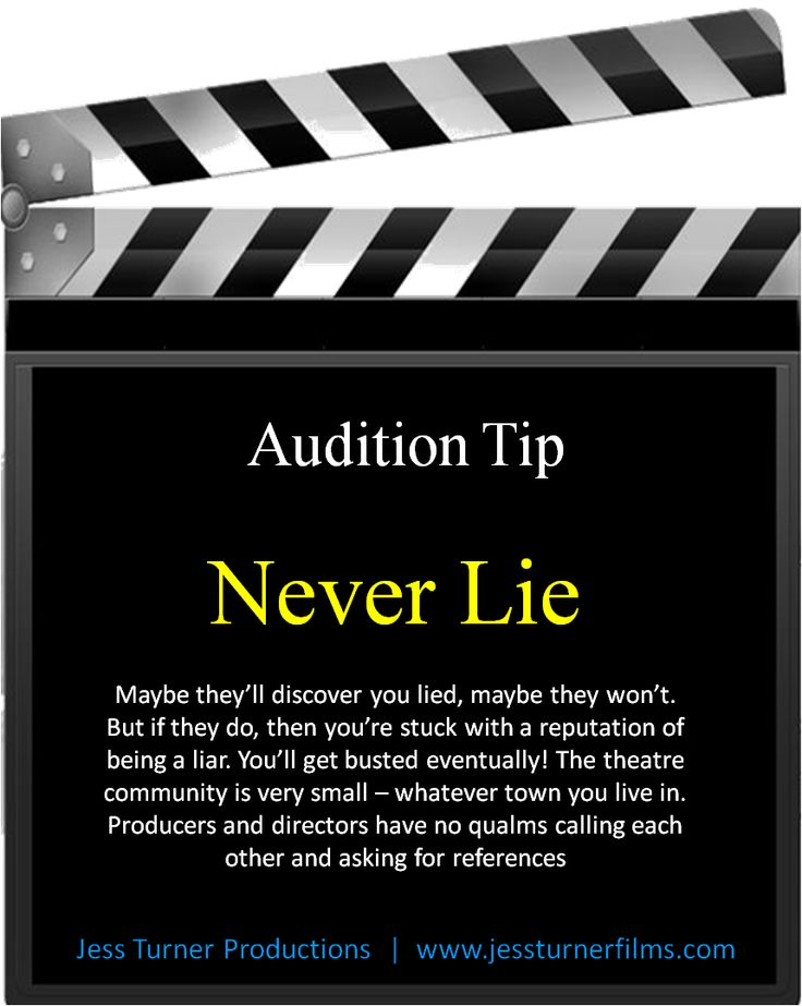 8 best Audition Tips images on Pinterest Acting tips, Note and - how to write a resume for acting auditions