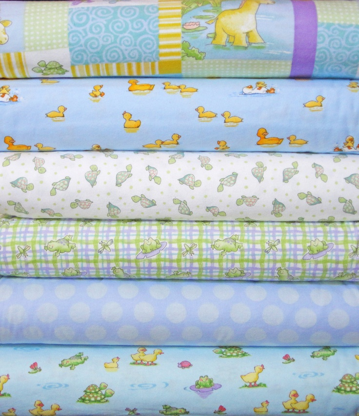 Play Day Pond Flannel Fabric Bundle David Textiles by flannelqueen, $21.00