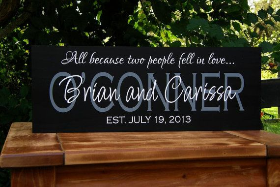 Family name established date sign, Bridal Shower Gift, Wood sign established date, parents anniversary gift, Unique Wedding, Christmas Gift on Etsy, $35.34 CAD