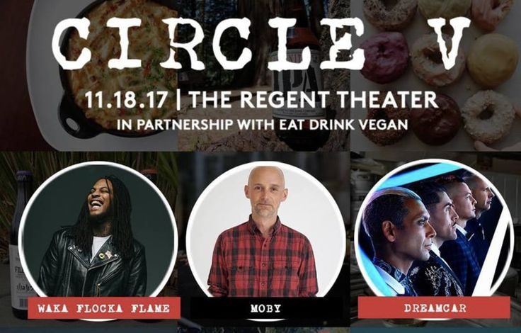 GIVEAWAY: Tickets To See Moby, Waka Flocka Flame And More At Circle V Festival  https://www.plantbasednews.org/post/tickets-circle-v-festival