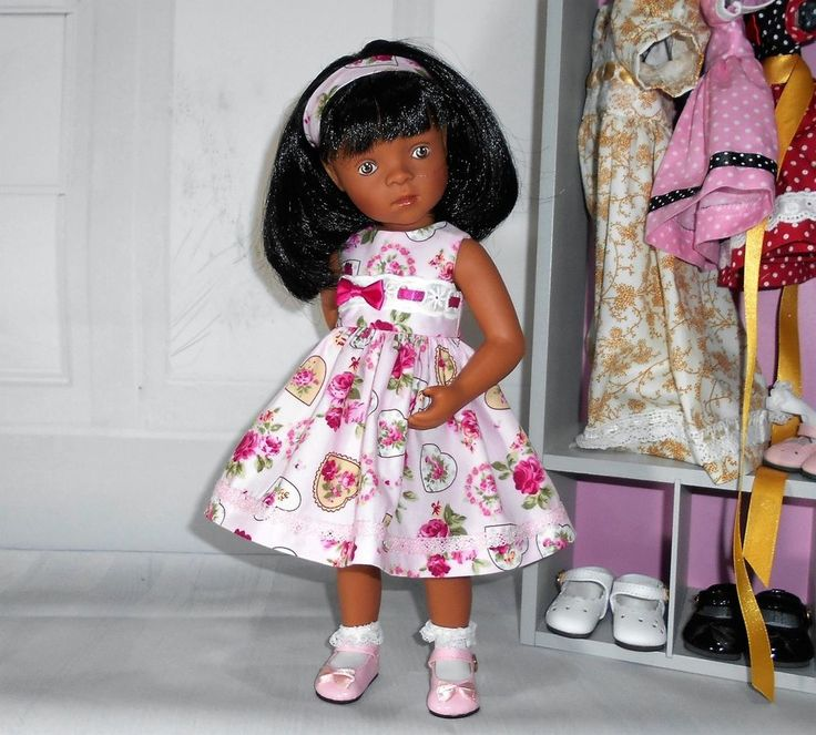 "Handmade dress & alice band fits Sylvia Natterer petitcollin Minouche 13"" doll"