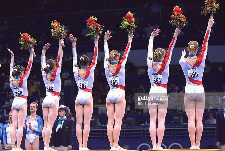 Romania win Gold in the Womens Team Gymnastics at the Sydney Superdome on Day Four of the Sydney 2000 Olympic Games in Sydney, Australia. \ Mandatory Credit: Billy Stickland /Allsport