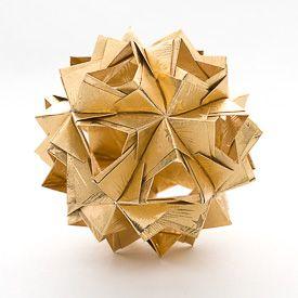 Diagram for a modular origami ball - Little Island Kusudama